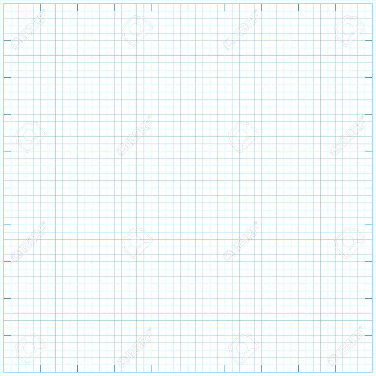 Square Grid Math Paper Background. Vector Illustration. Royalty Free ...
