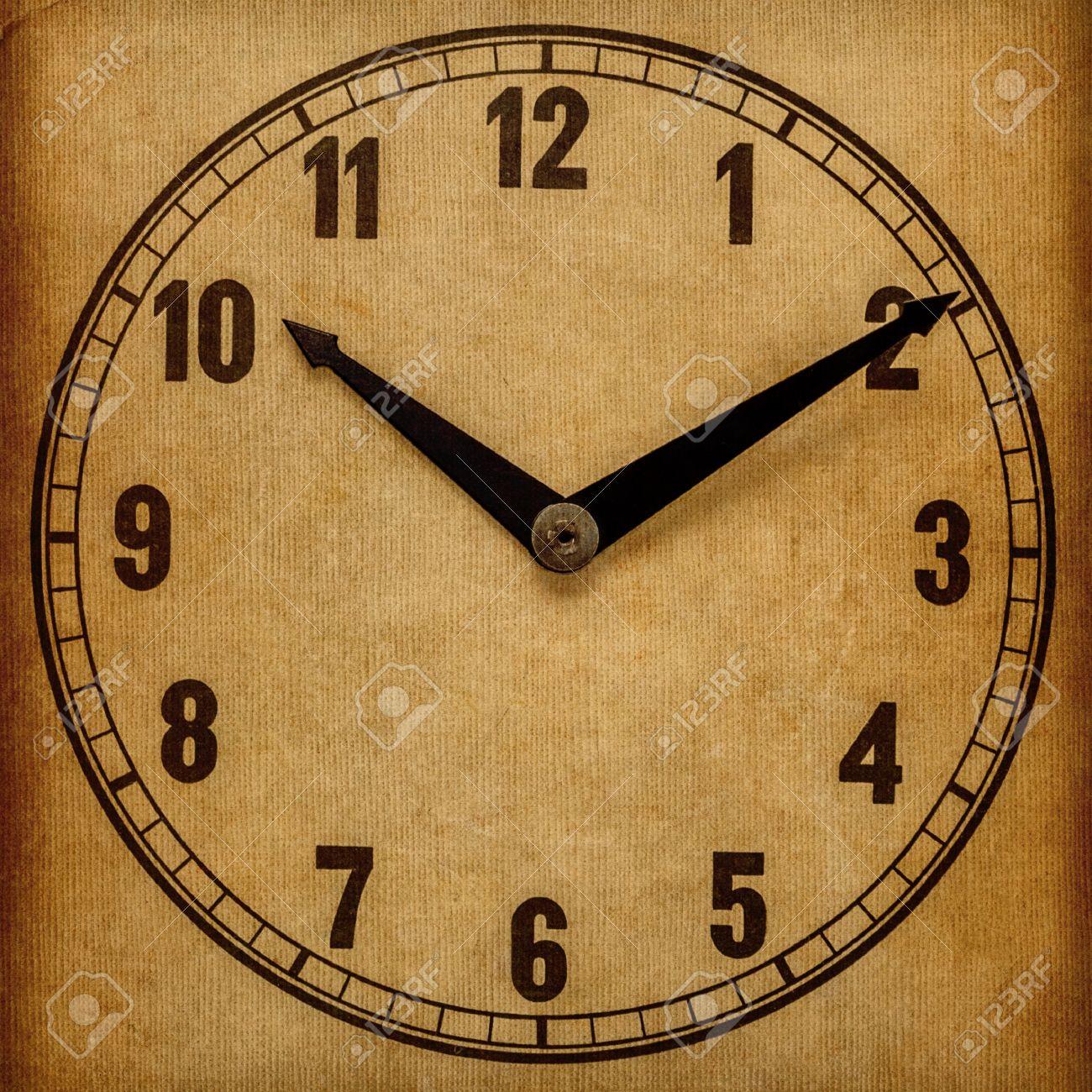 Clock Face Showing 12 O'clock Face Showing 5 O'clock
