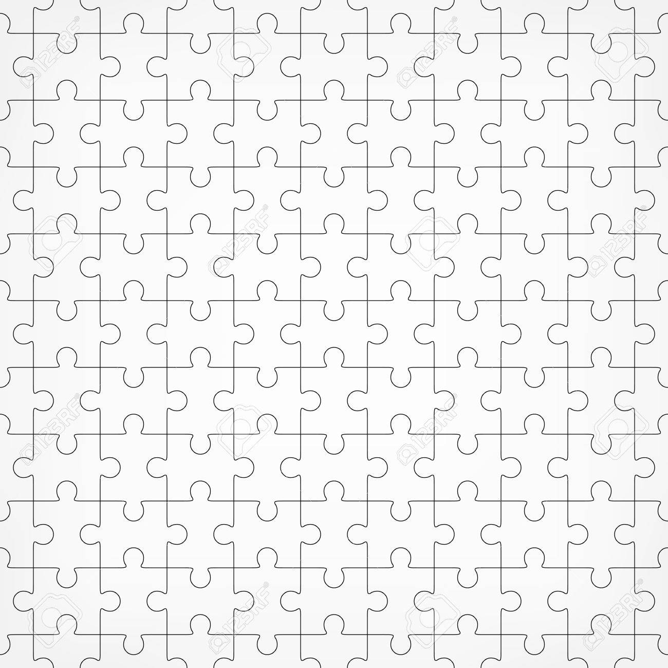 Jigsaw Puzzle Blank Template Pieces Are Easy To Separate Every