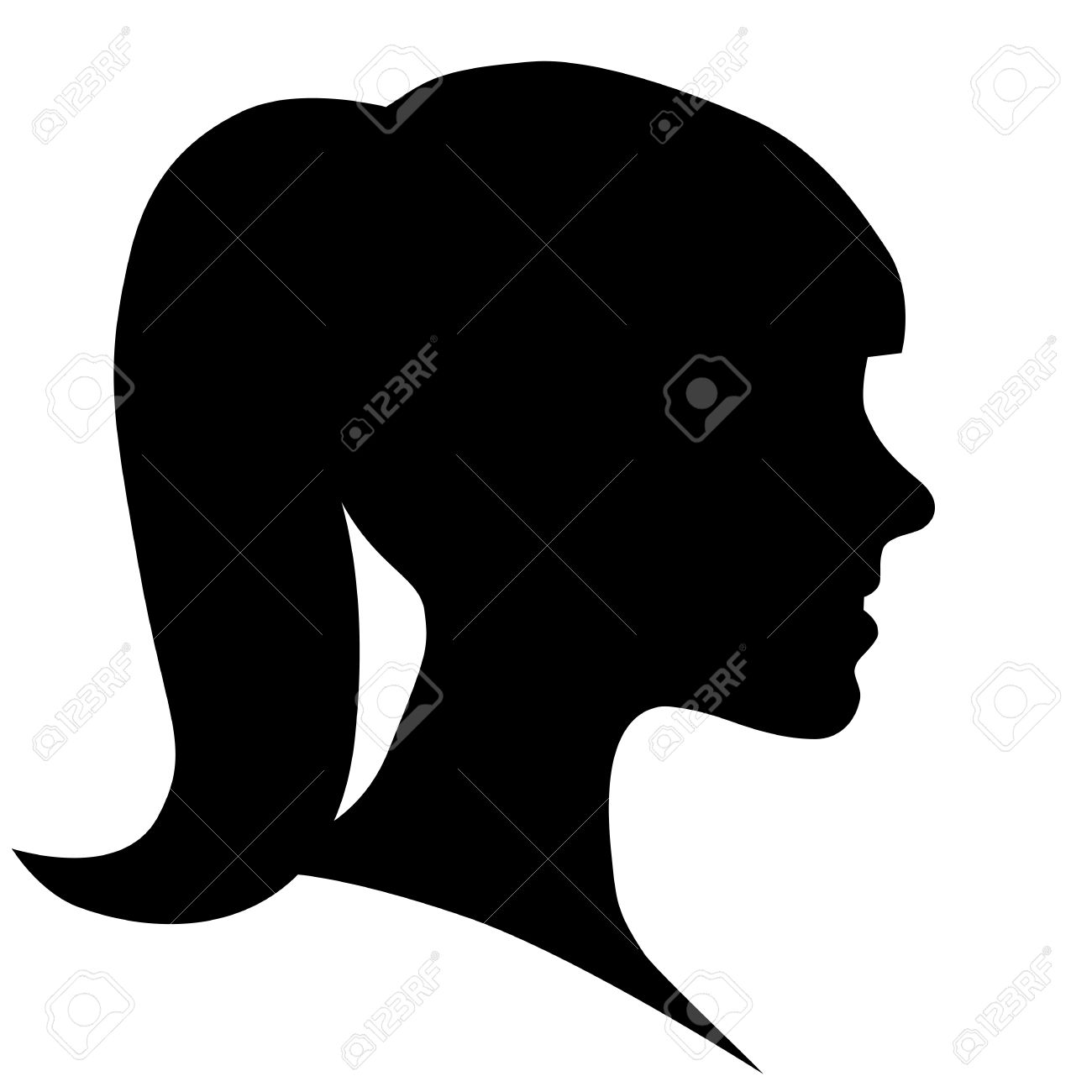 woman face silhouette in profile royalty free cliparts vectors and rh 123rf com woman face silhouette vector girl face silhouette vector