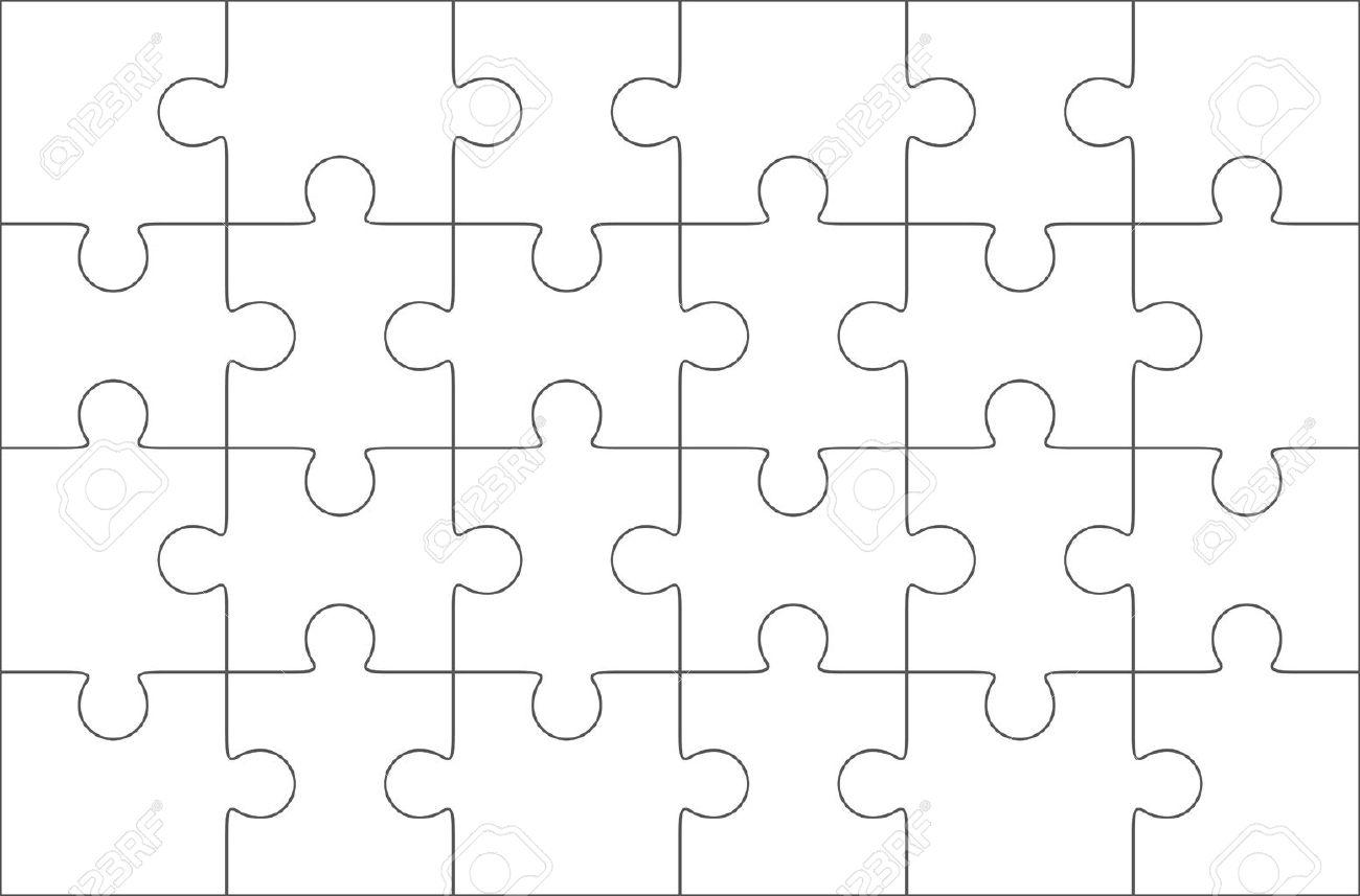 Jigsaw Puzzle Blank Template 6x4 Elements Twenty Four Puzzle – Blank Puzzle Template