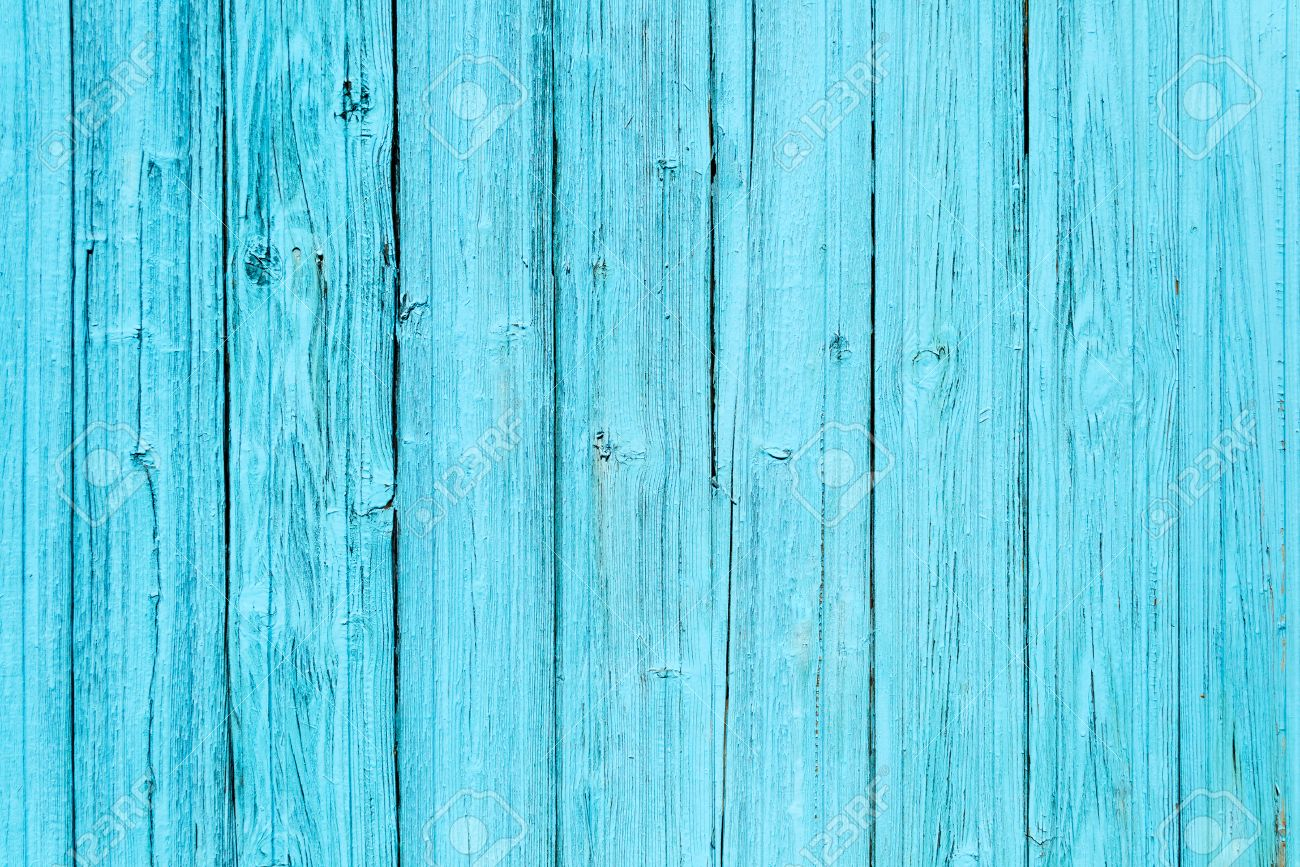 Etonnant Old Painted Blue Wood Fence   Texture Or Background Stock Photo   45350531