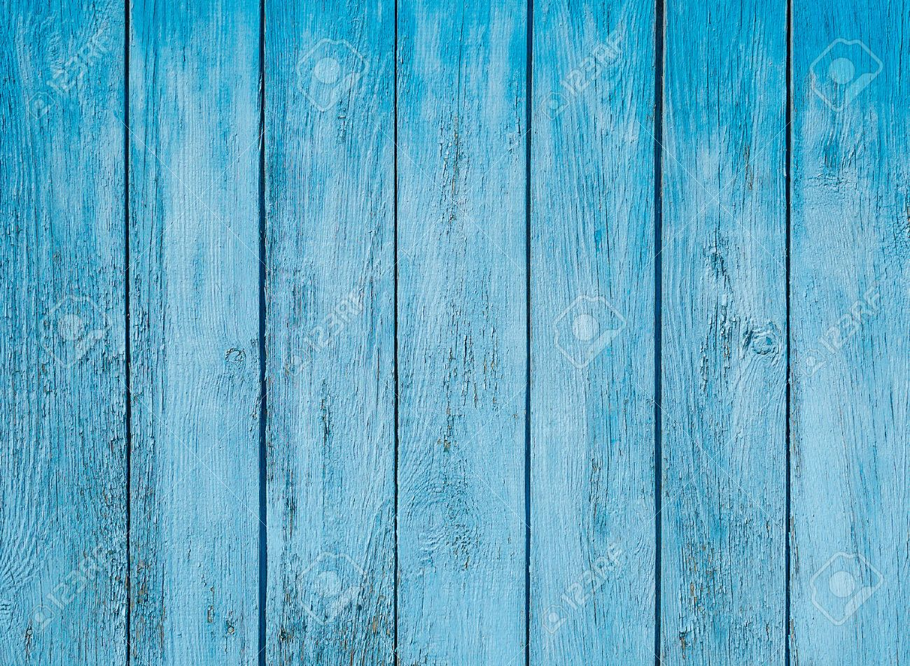 Old Painted Blue Wood Fence   Texture Or Background Stock Photo   45713633
