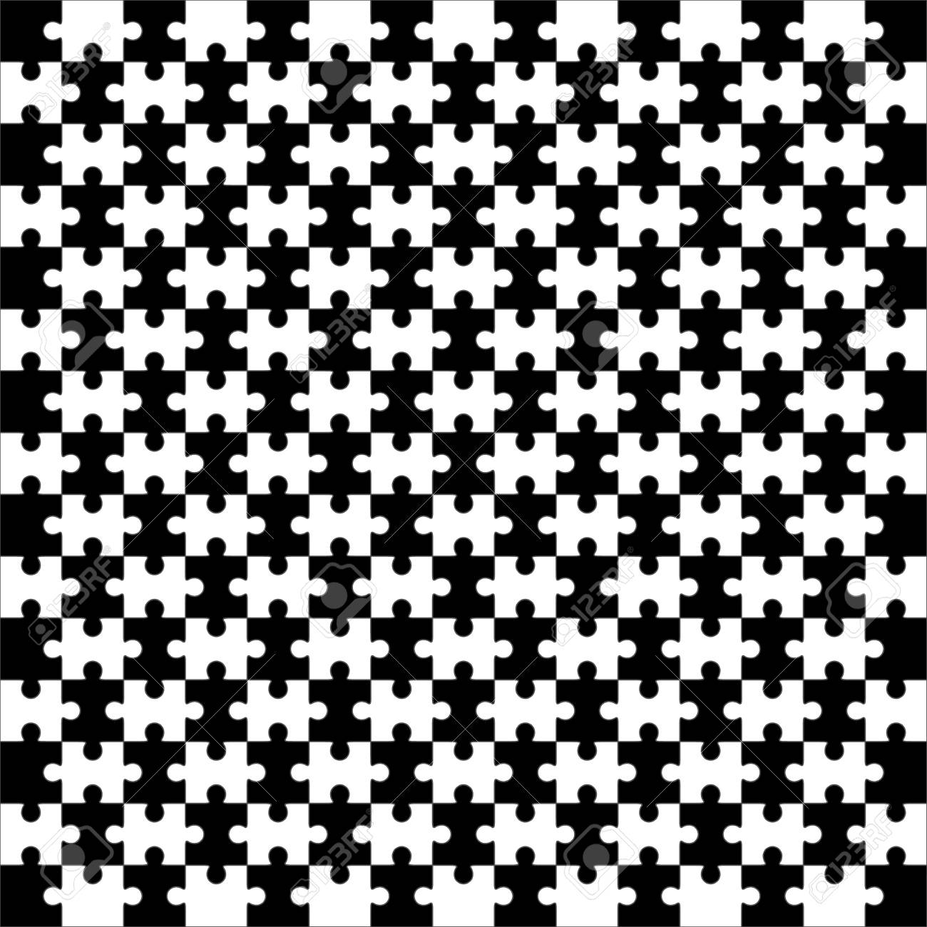 Jigsaw Puzzle Vector, Blank Simple Template, 225 Pieces Royalty Free ...