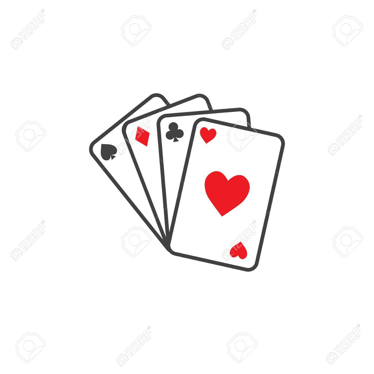 playing cards icon outline illustration of playing cards vector rh 123rf com playing card vector art playing card vector template