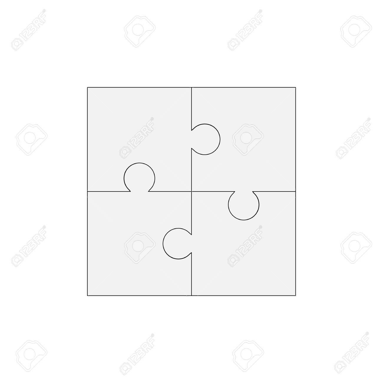 Puzzle Leer Vektor 200x200, Vier Stücke Lizenzfrei Nutzbare ...