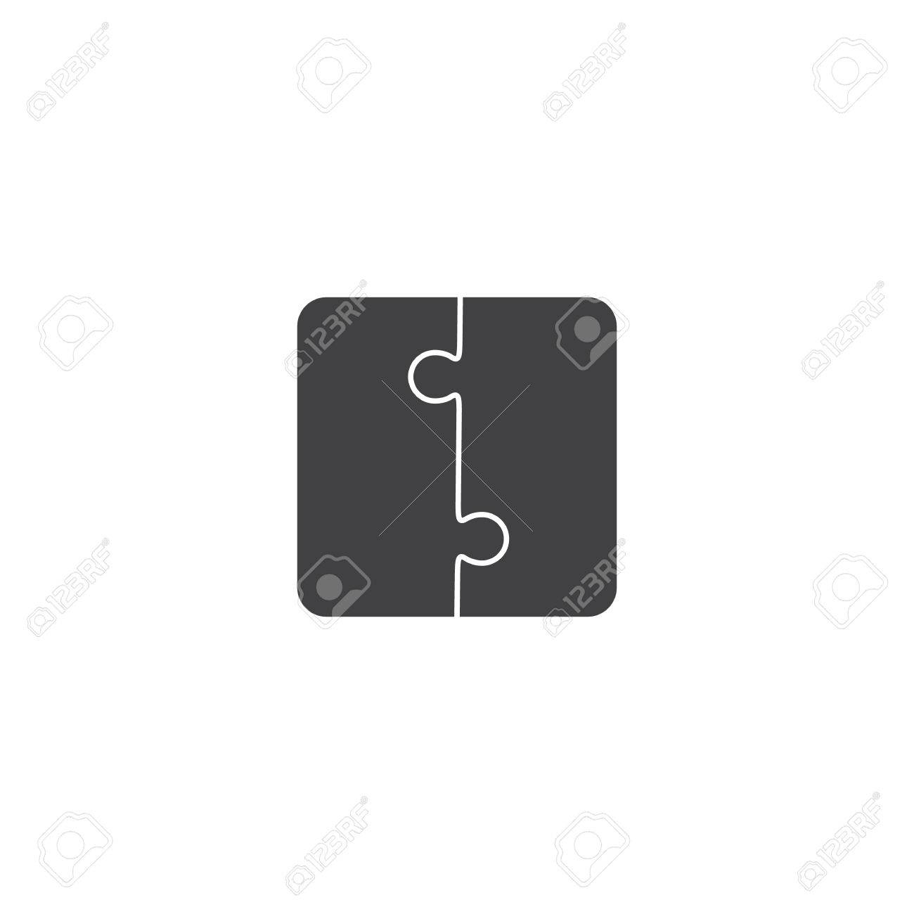 Jigsaw Puzzle Vector, Blank Simple Template Pieces Royalty Free ...
