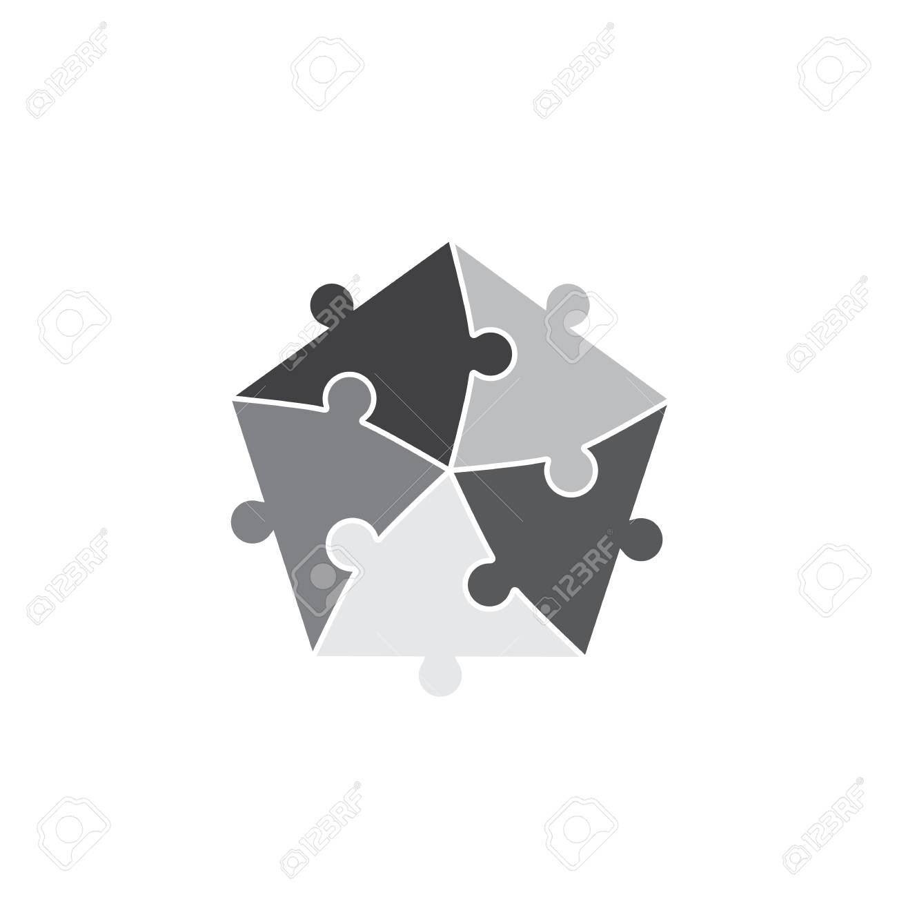Jigsaw Puzzle Pieces Background Royalty Free Cliparts, Vectors, And ...