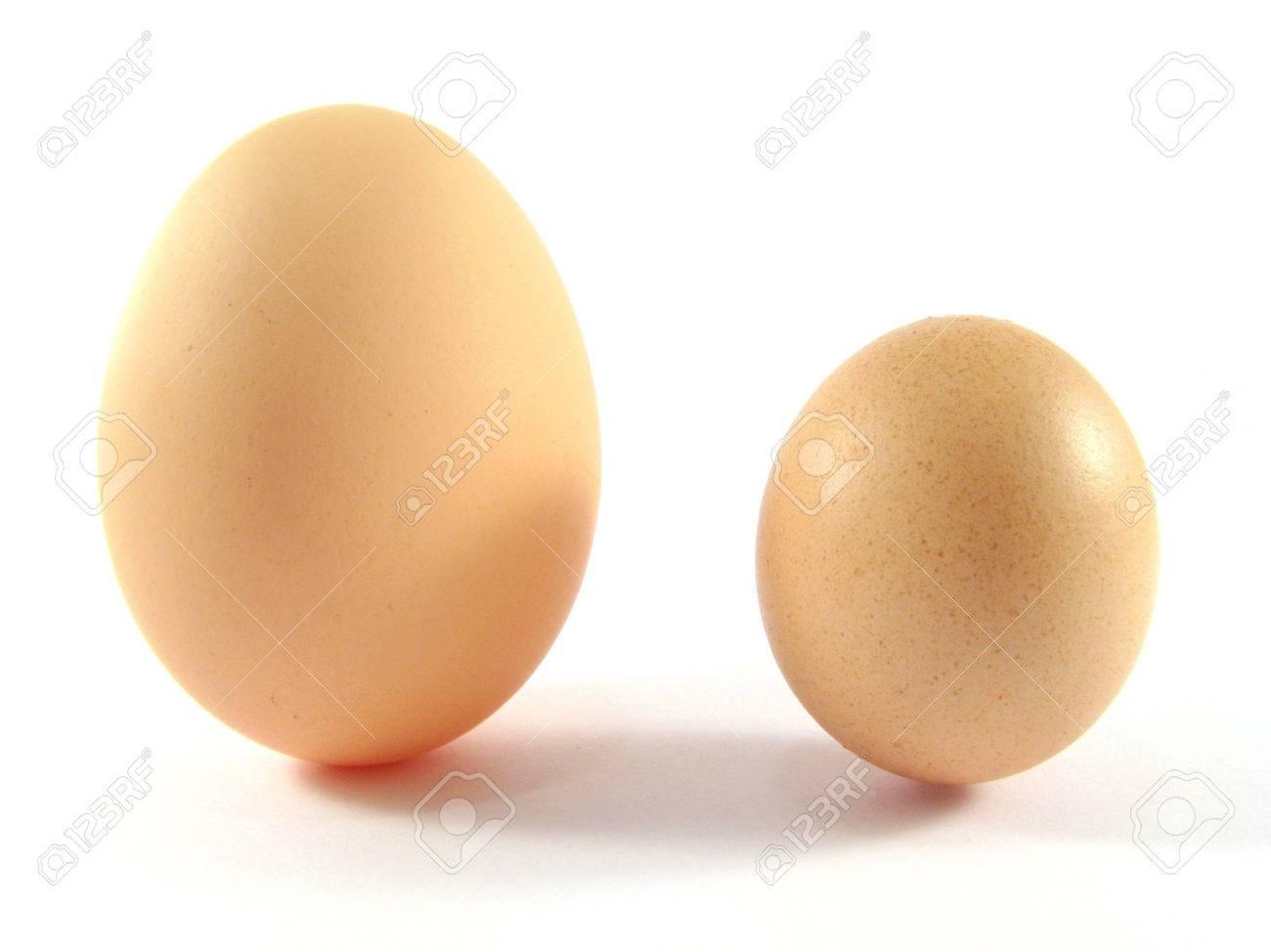 Pequeñas Y Grandes Huevos De Gallina Fotos, Retratos, Imágenes Y ...