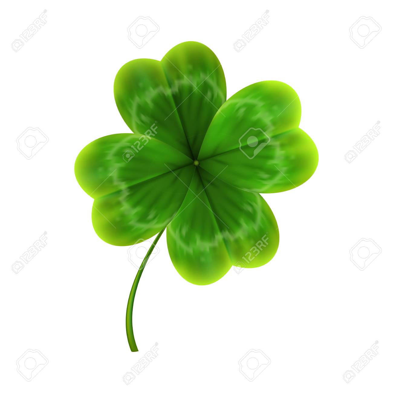 green leave of clover. realistic 3d vector illustration - 95055458