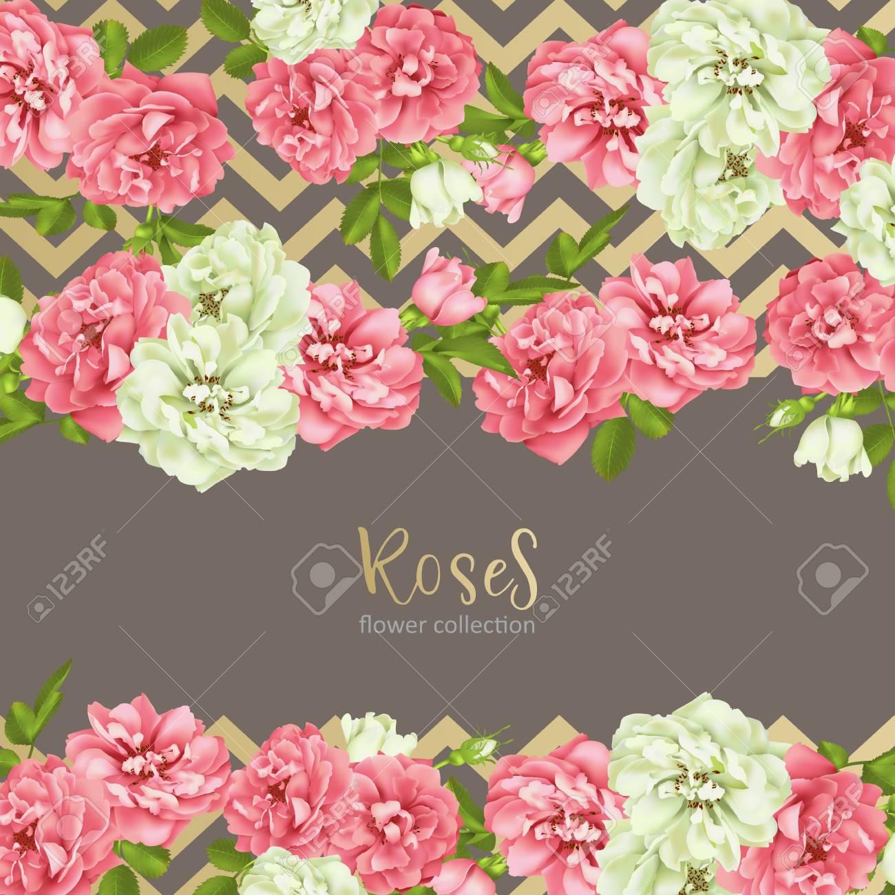 Wedding Invitation With Wild Rose Flowers Royalty Free Cliparts ...