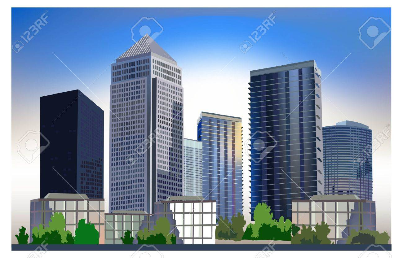 Business City Royalty Free Cliparts Vectors And Stock