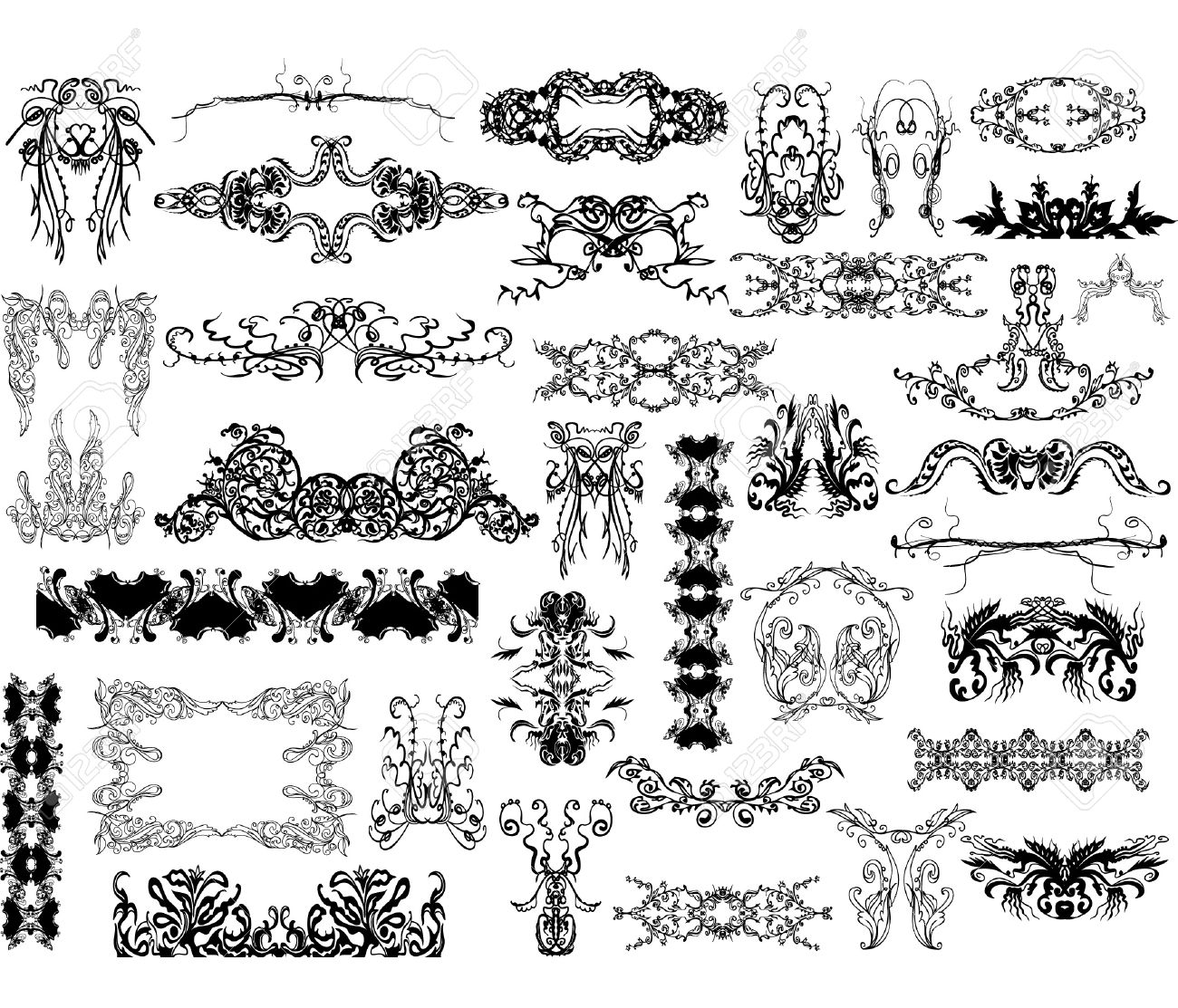 collection of design elements Stock Vector - 10326868