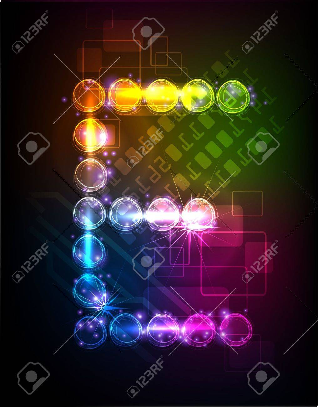 neon alphabet Stock Vector - 10329185