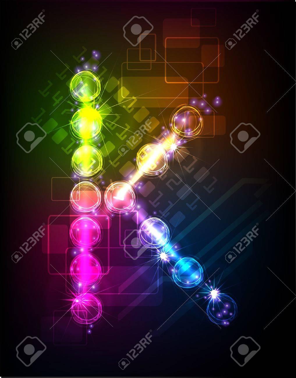 neon alphabet Stock Vector - 10329182