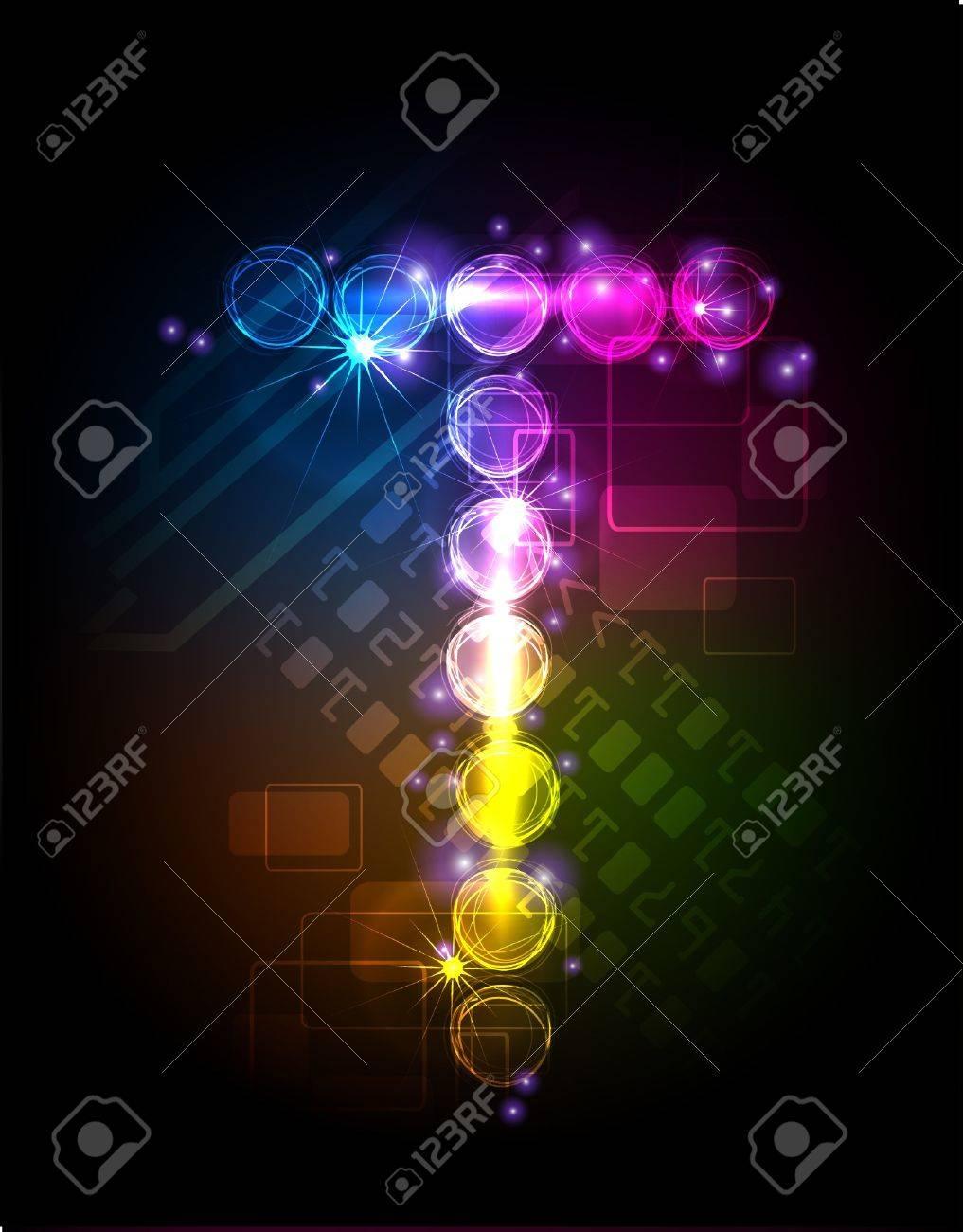 neon alphabet Stock Vector - 10329163