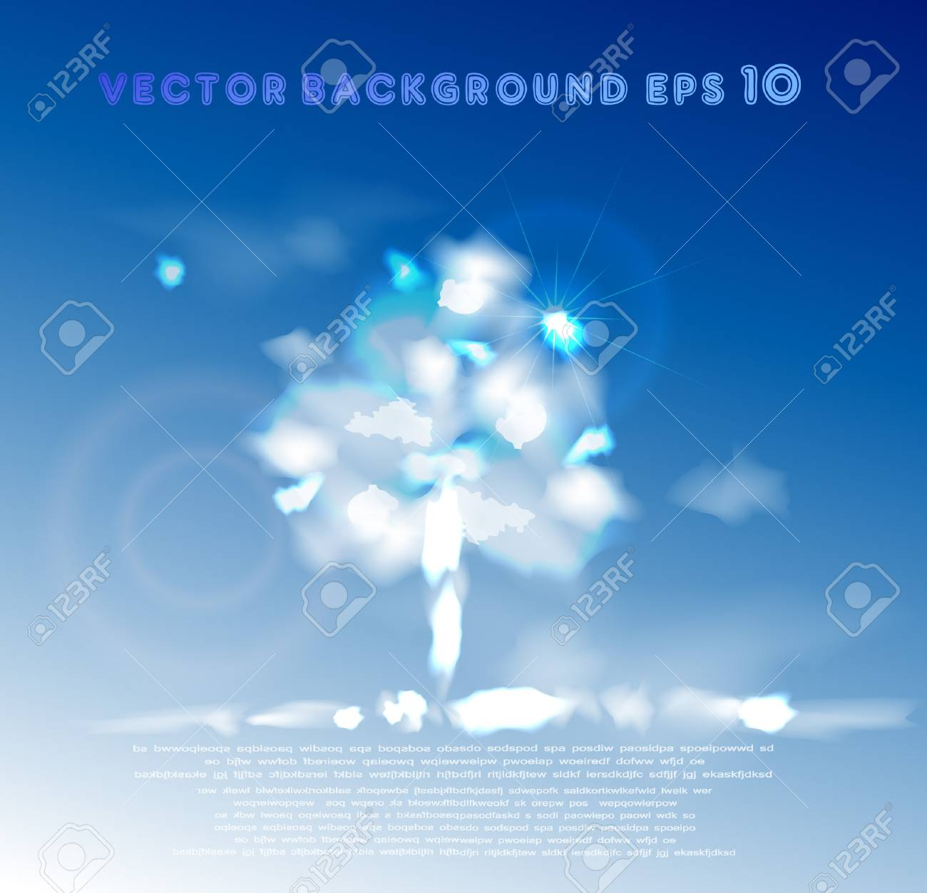 Clouds collection tree Stock Vector - 10336234