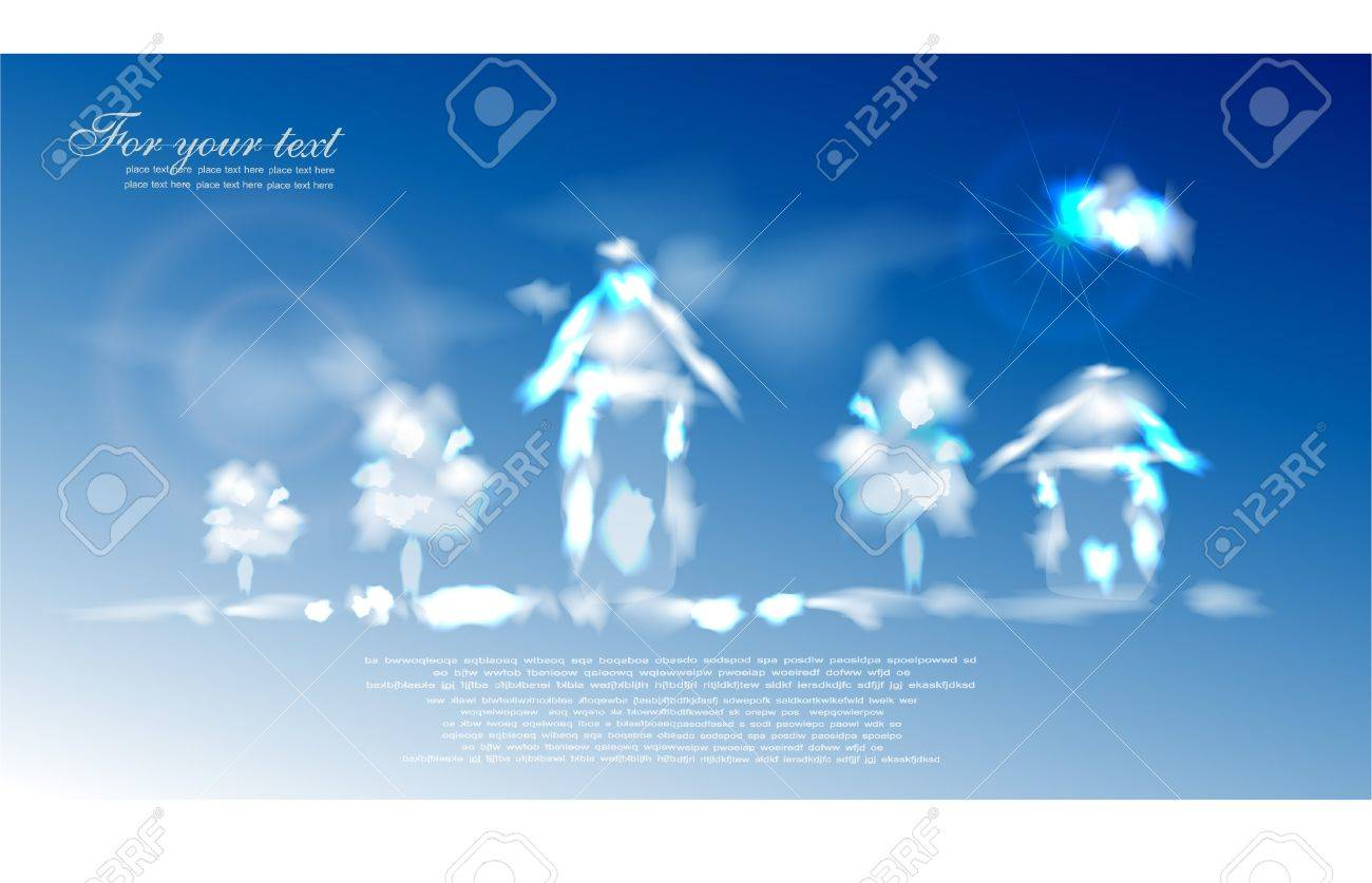 sky village Stock Vector - 10336220