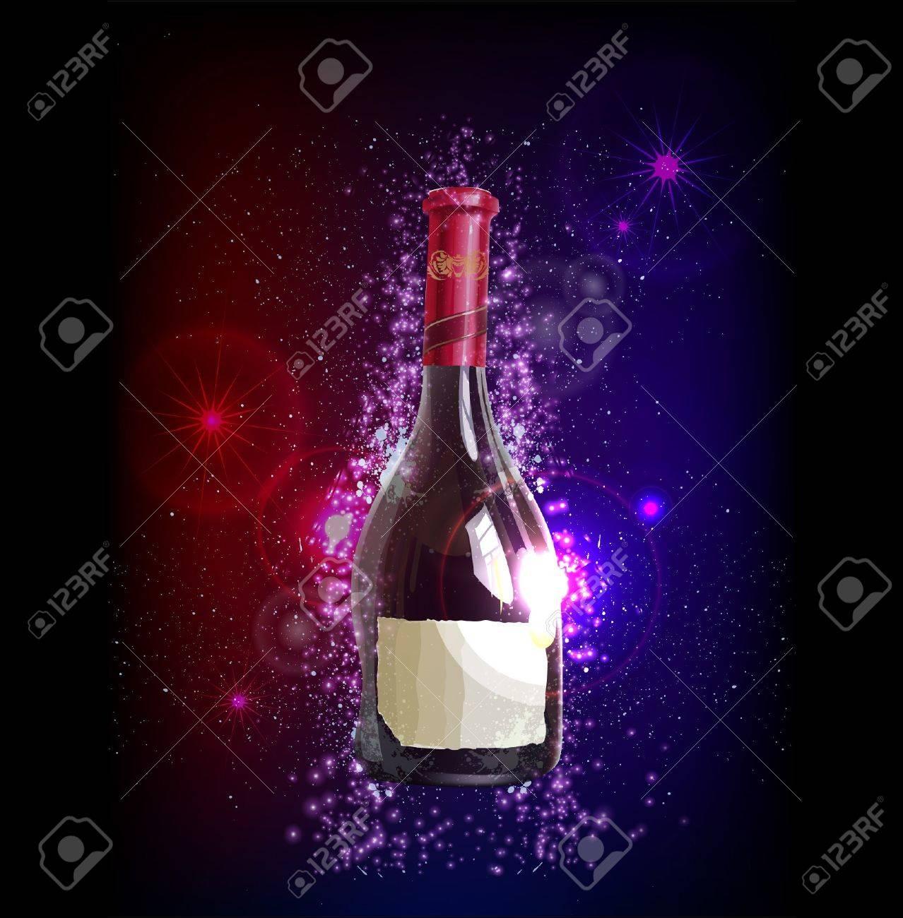 Fantastic bottle of wine Stock Vector - 10336254