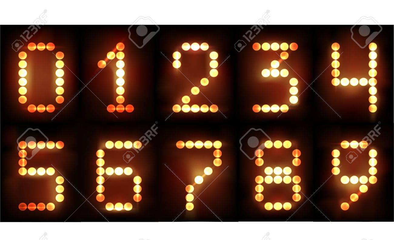 neon numbers Stock Vector - 10375434