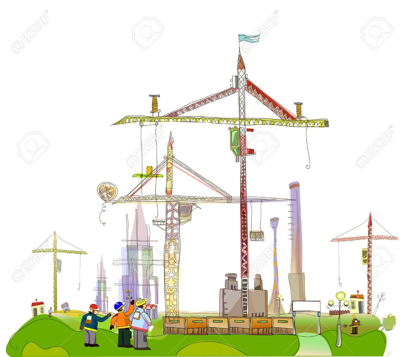 Architekt Baustelle Lizenzfreie Vektorgrafiken Kaufen: 123RF