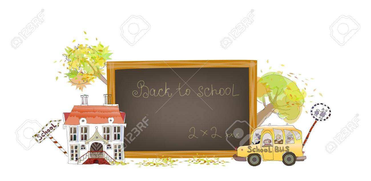 Back to school background Stock Vector - 10386539