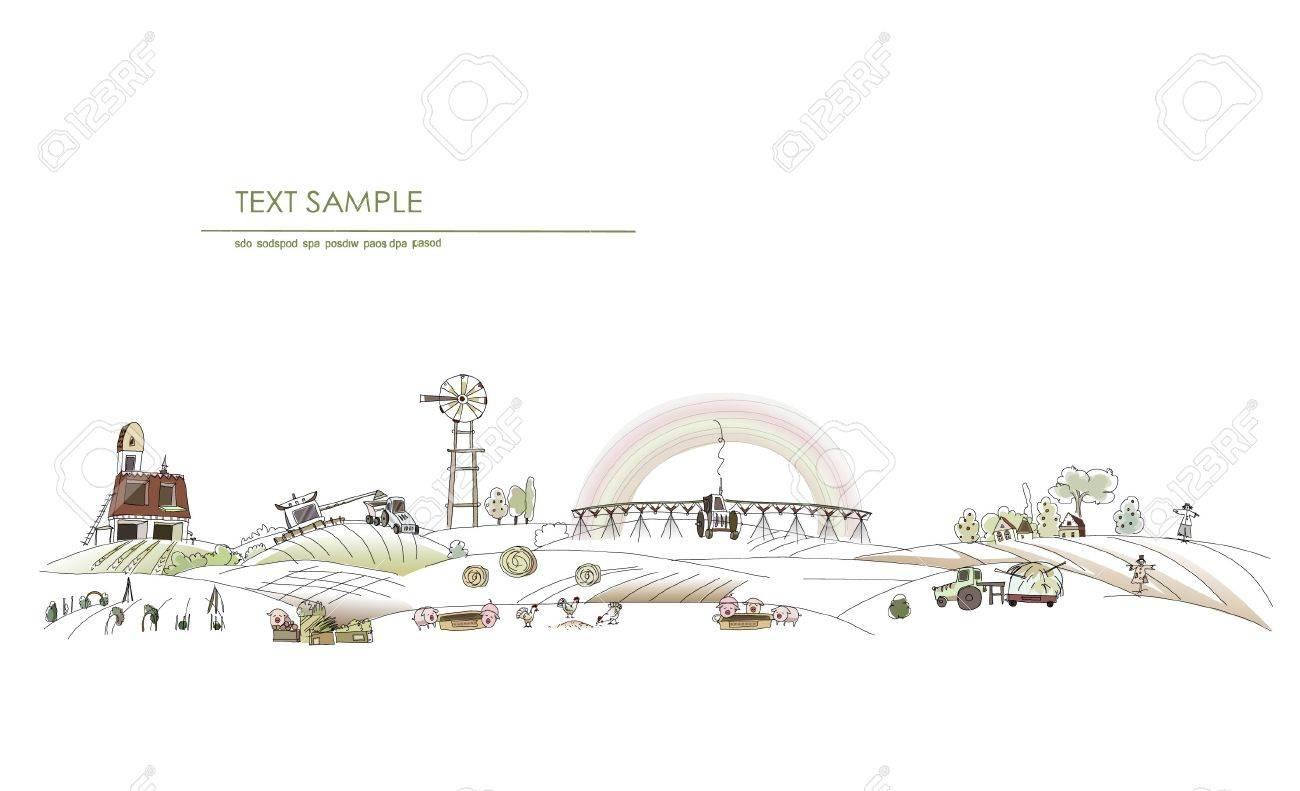 farm landscape Stock Vector - 10402909