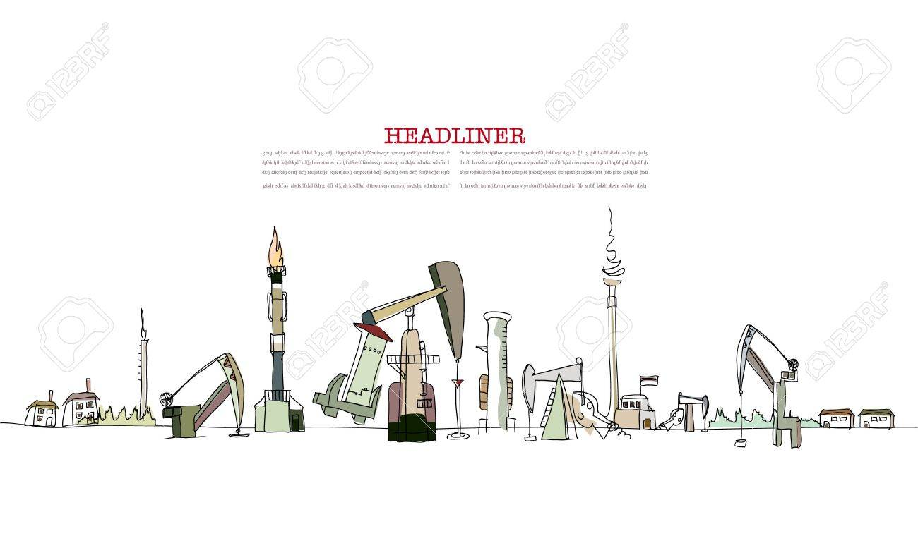Planet heavily pumped by oil industry Stock Vector - 10402891