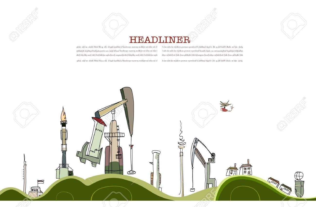 Planet heavily pumped by oil industry Stock Vector - 10402887