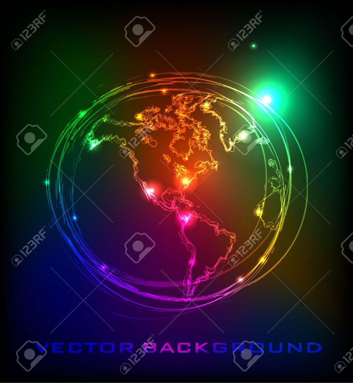 planet Earth Stock Vector - 10403068
