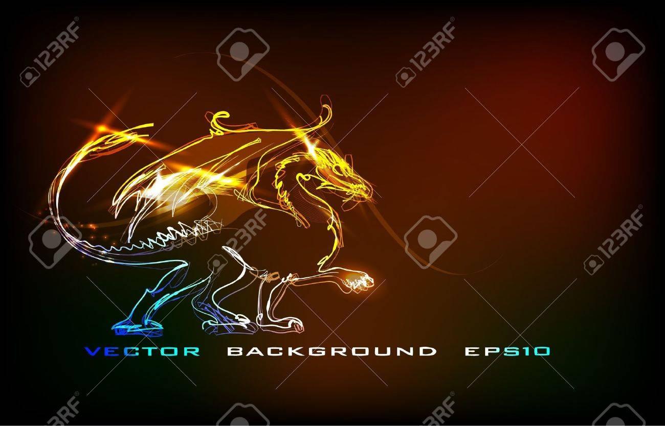 neon dragon Stock Vector - 10594703