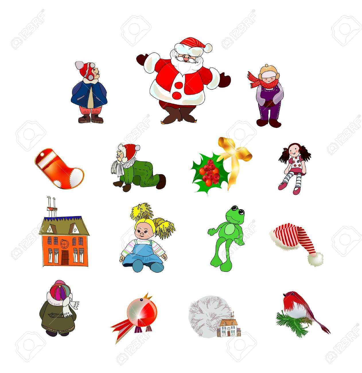 Christmas icons Stock Vector - 10678862