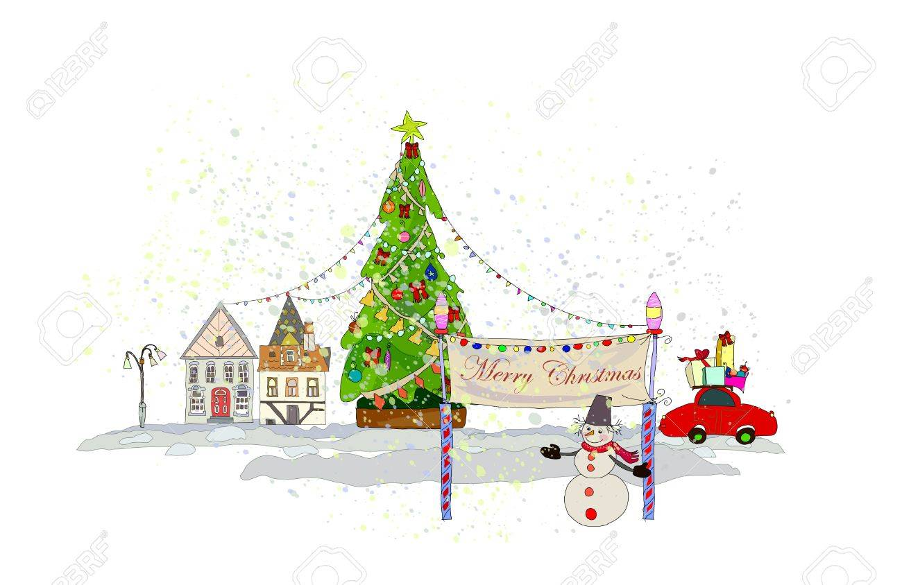 christmas background Stock Vector - 10678899