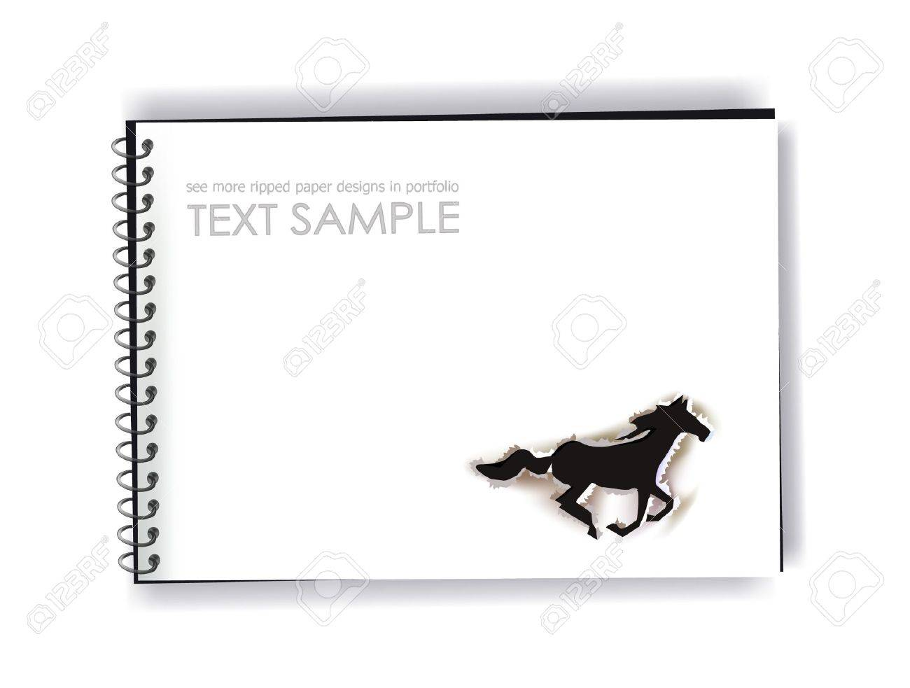 notepad with ripped paper design Stock Vector - 10742720