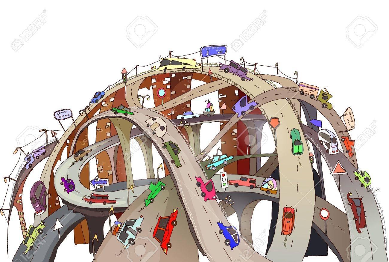 roads junctions Stock Vector - 11240194