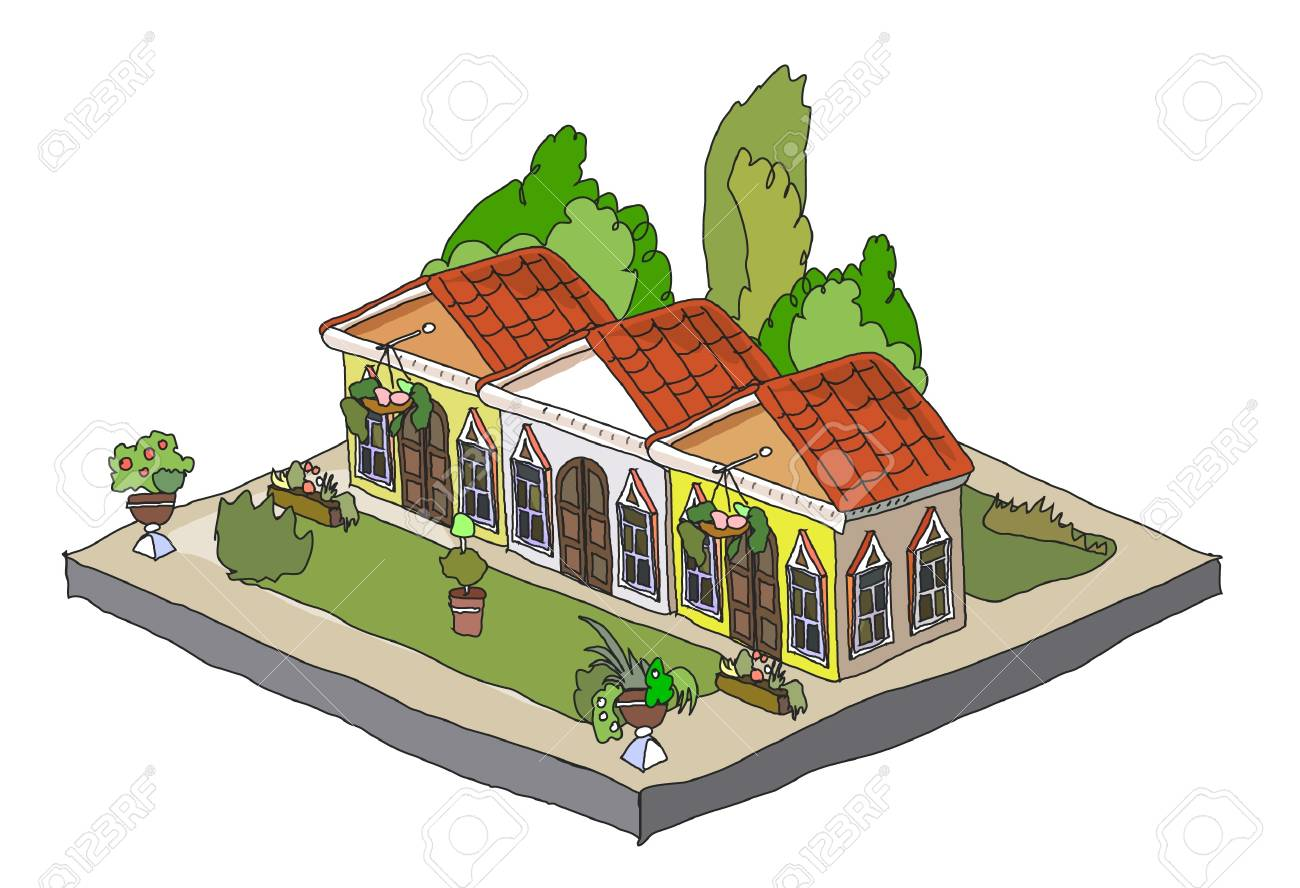 icon of small houses Stock Vector - 11324524