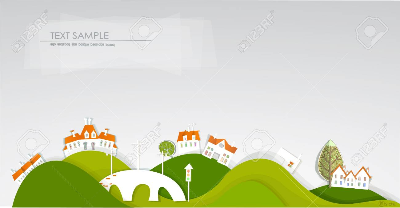 White city on the hills Stock Vector - 12481013