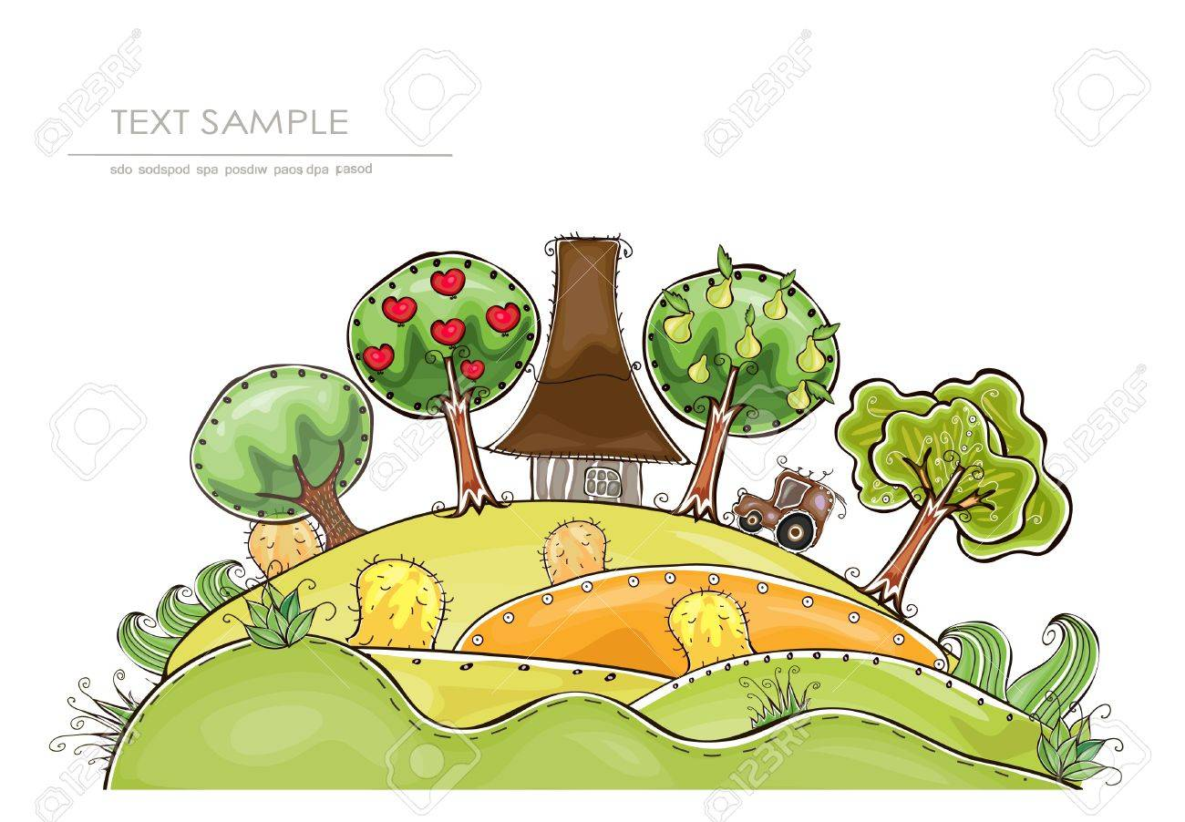 farm and organic fruits  Happy world  collection Stock Vector - 12530859