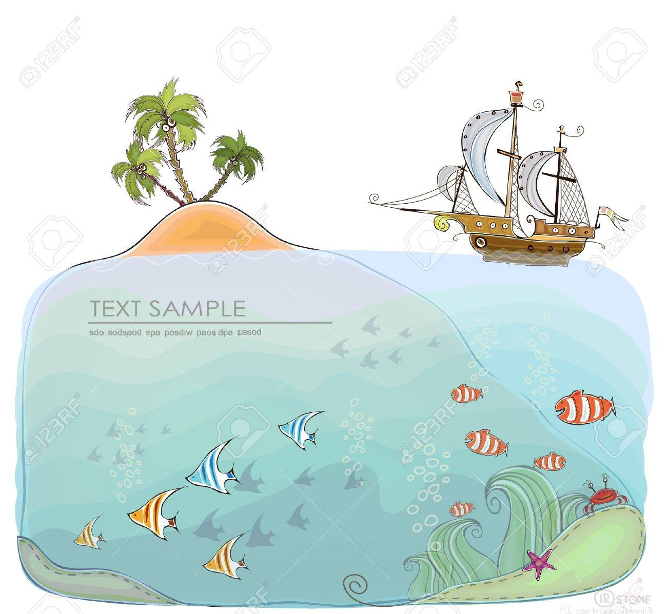 under the sea   Happy world  collection Stock Vector - 13175920