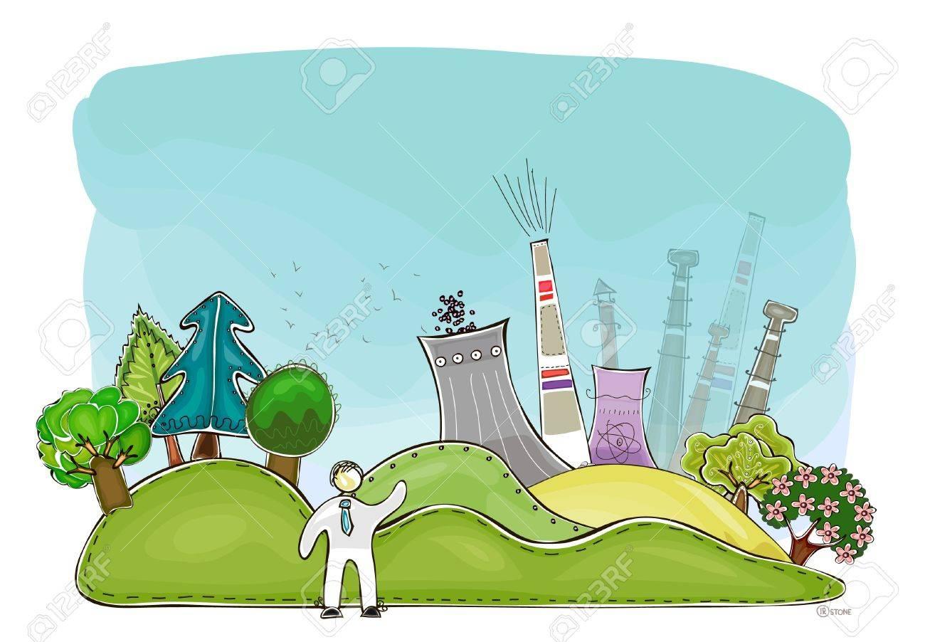 industrial illustration Stock Vector - 13572671
