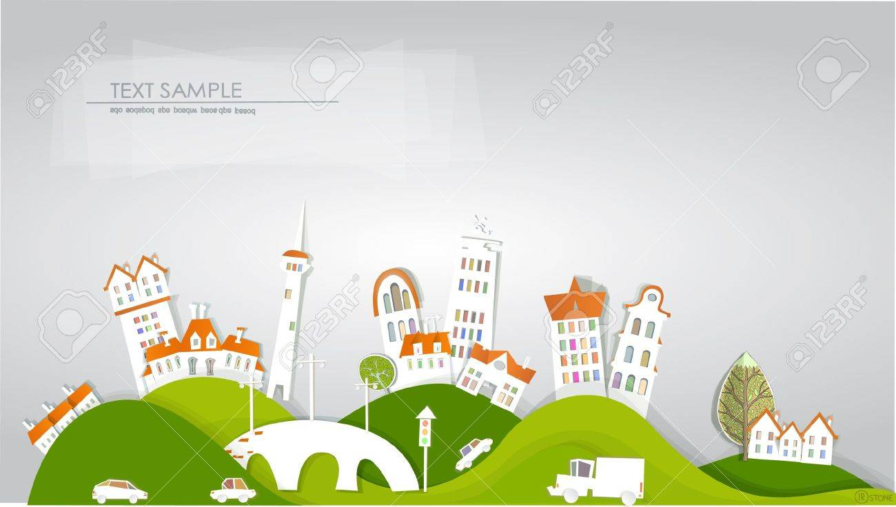 city background  White city  collection Stock Vector - 14092571
