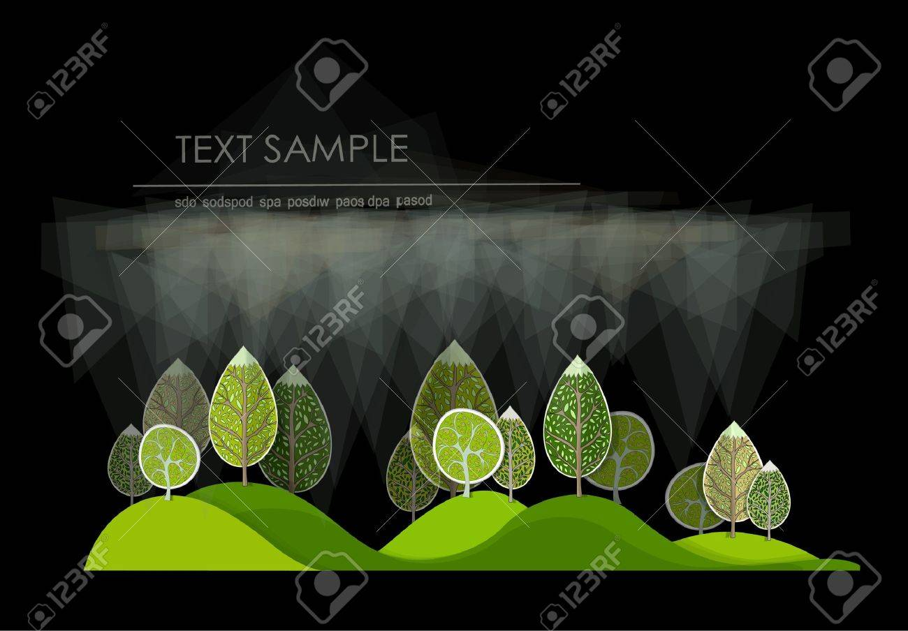 abstract forest Stock Vector - 14092574
