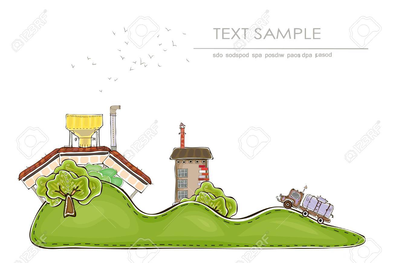 farm background  Happy world  colllection Stock Vector - 15339886