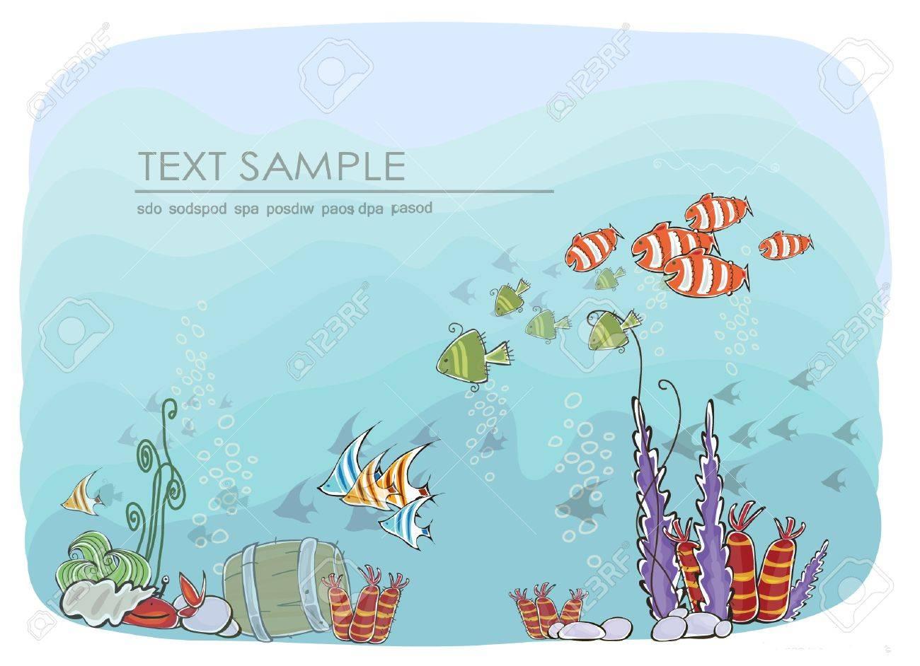 under the sea backdround Stock Vector - 15339890
