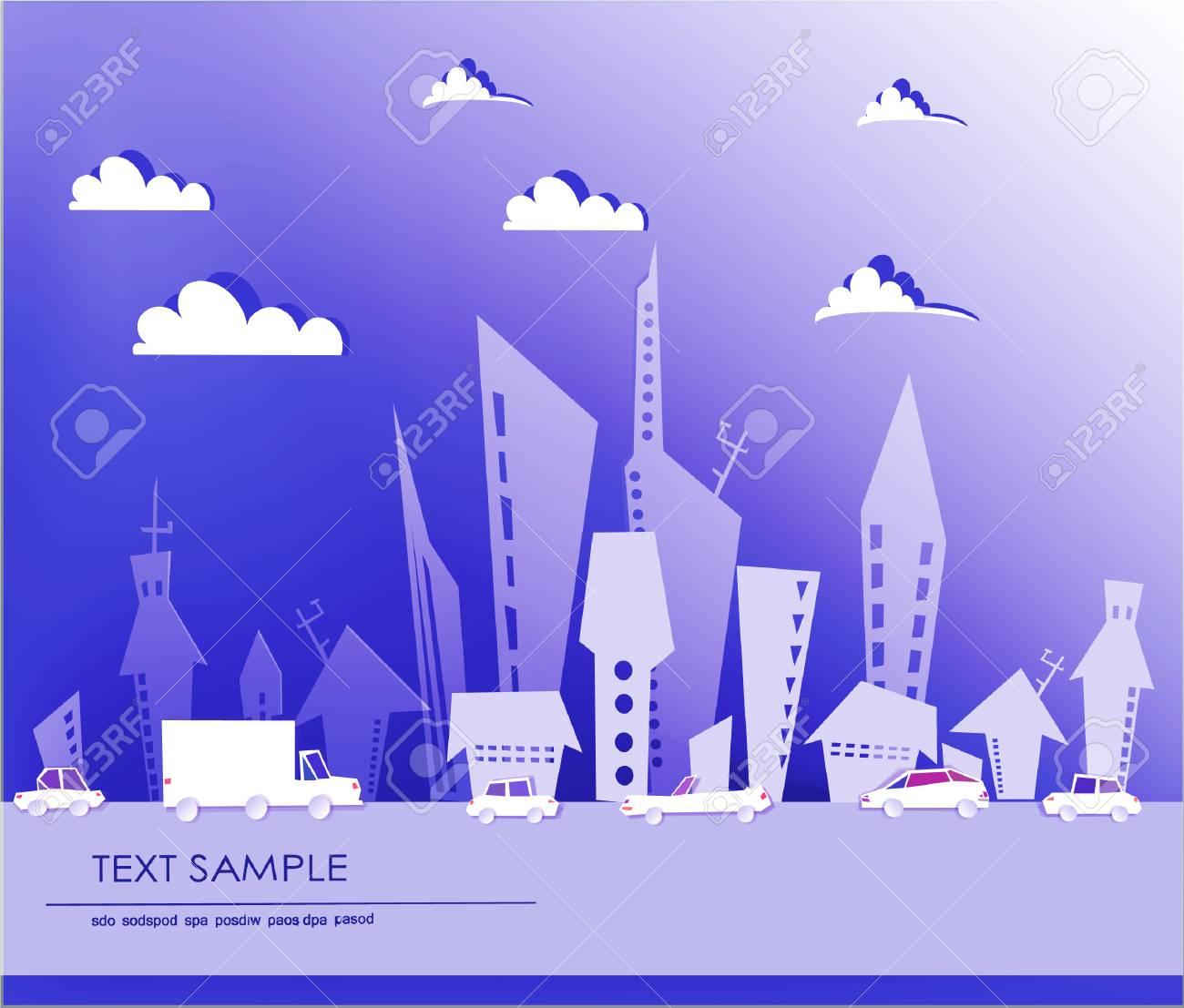 City background Stock Vector - 22749352
