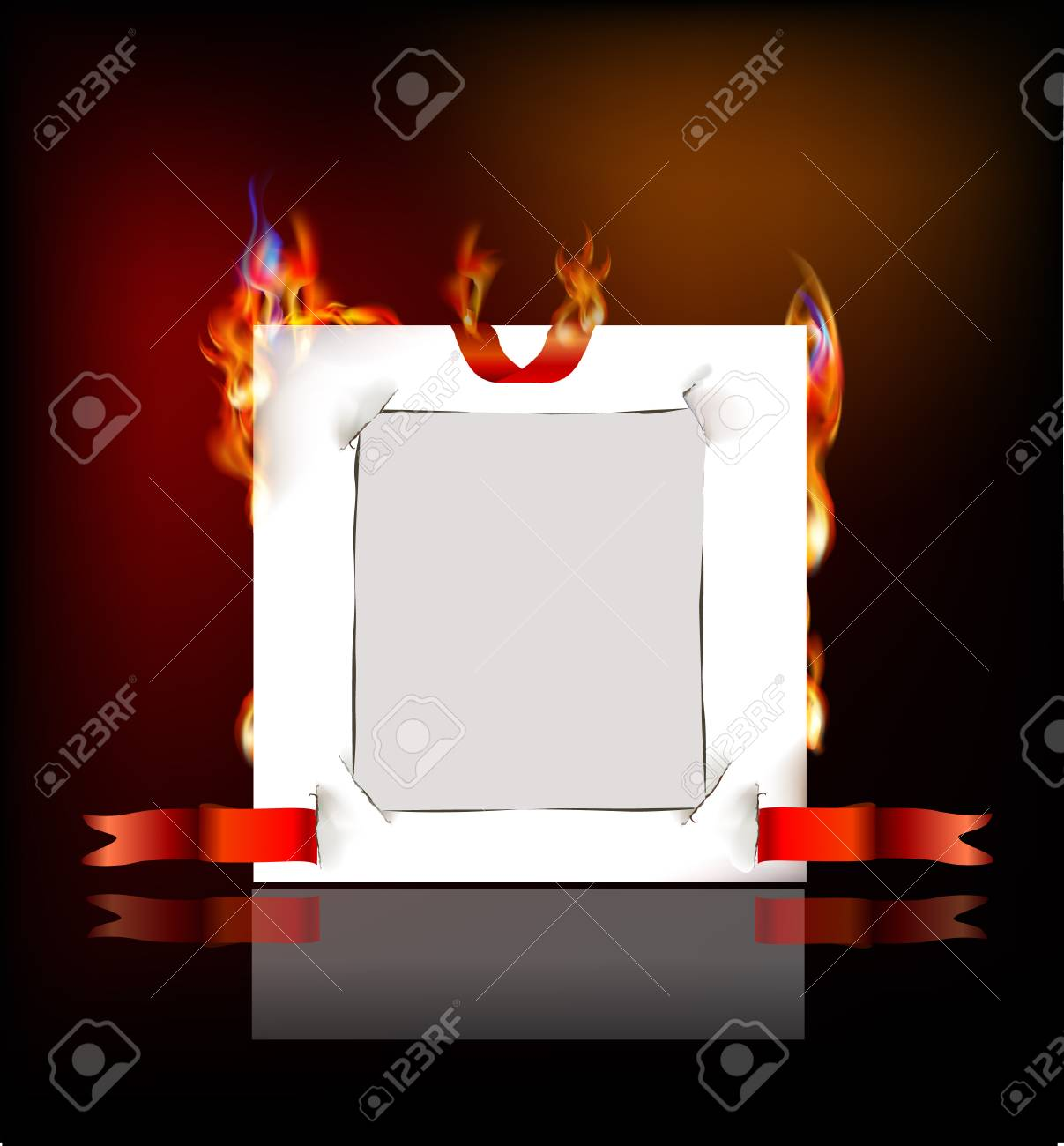 paper background and flame Stock Vector - 24974890