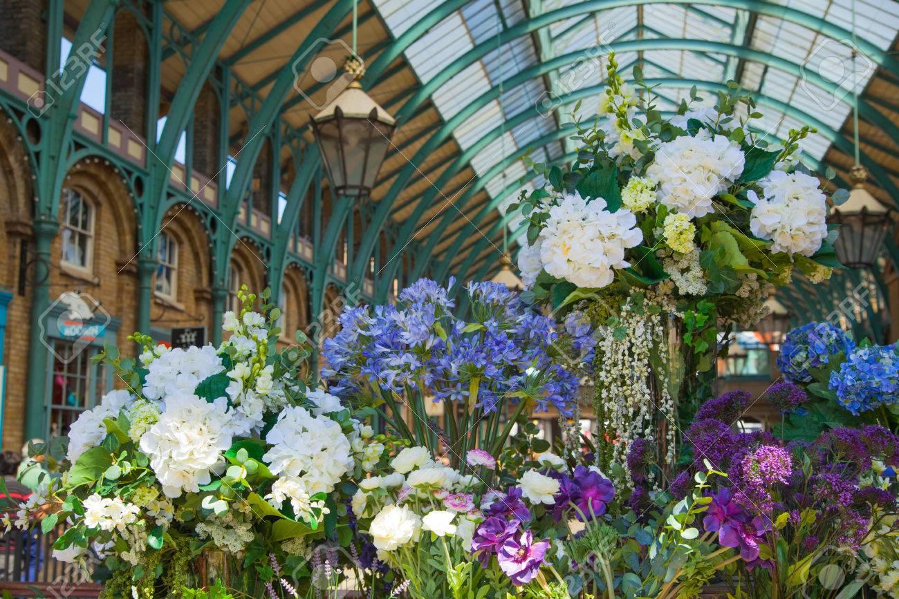 london uk 22 july 2014: flower shop covent garden market one..