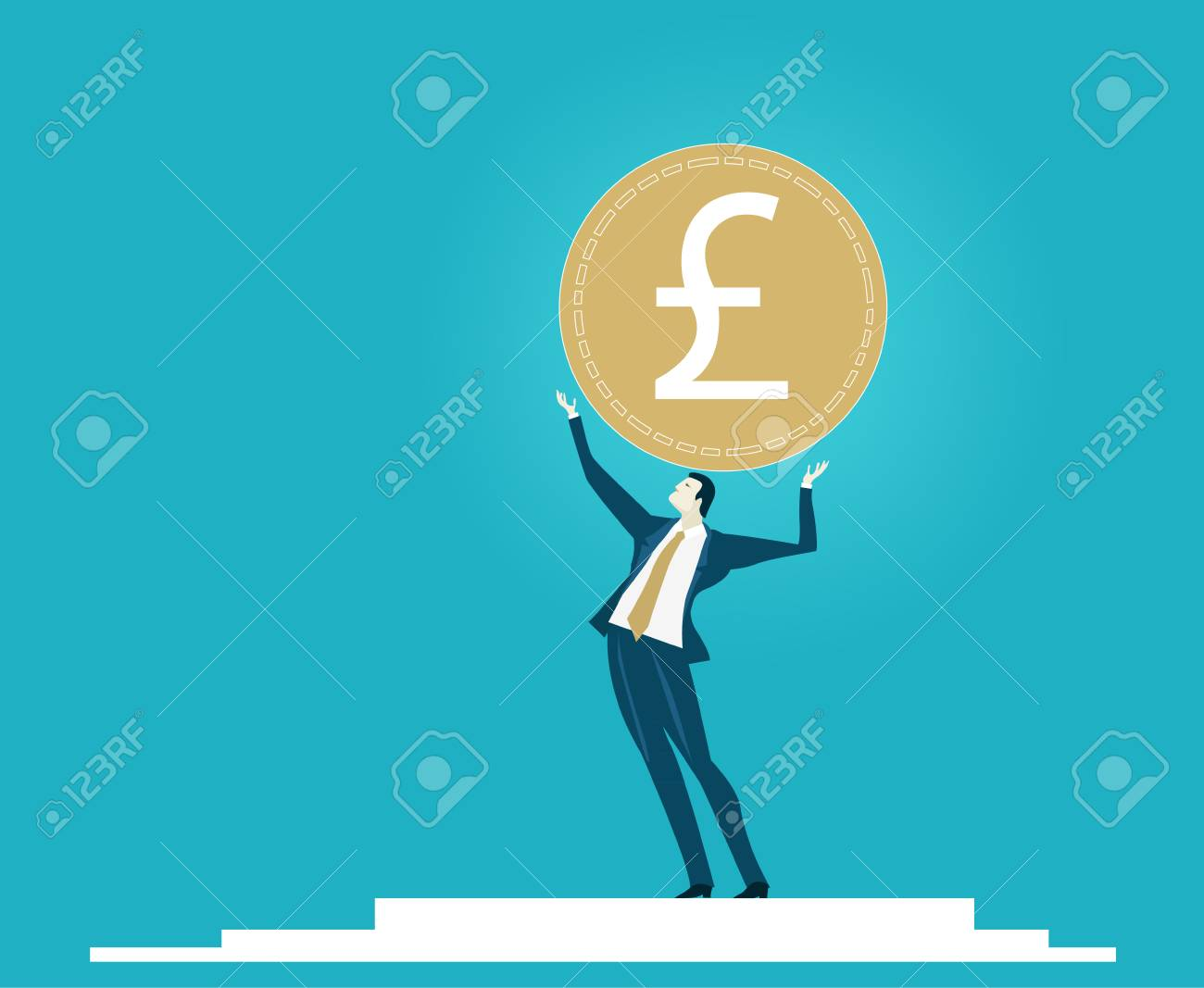 Businessmen holding up the currency symbol british pound economy businessmen holding up the currency symbol british pound economy recession brexit business biocorpaavc Images