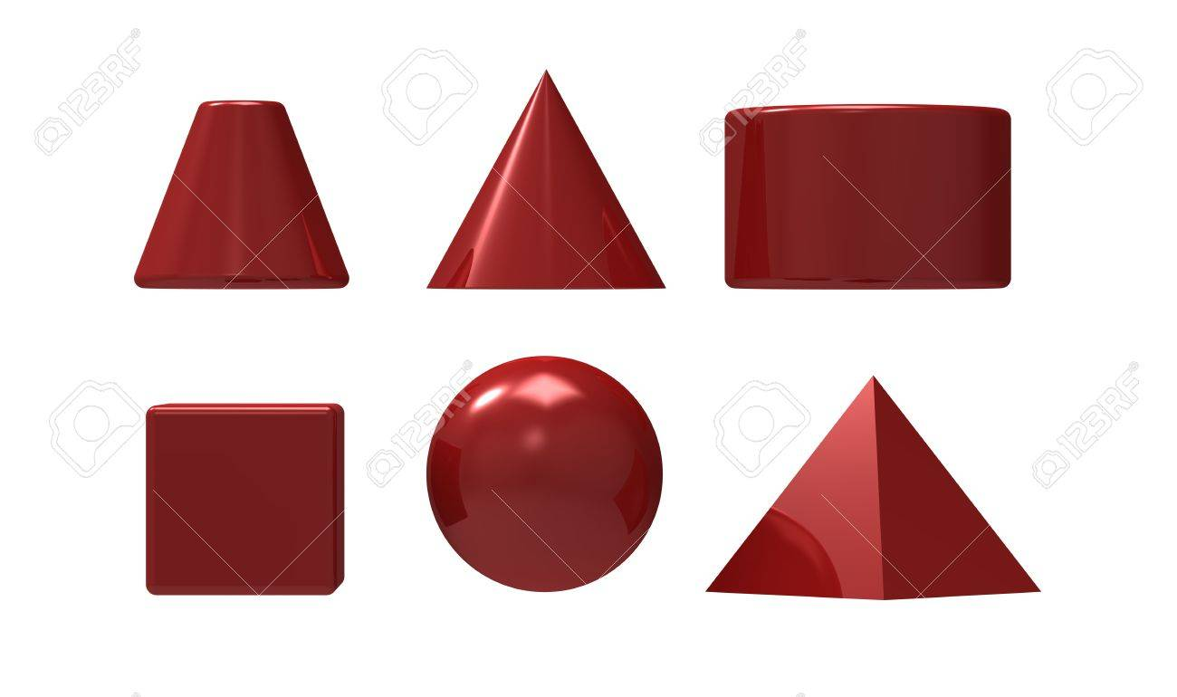 Geometrical figures of different kinds on a white background Stock Photo - 9507130