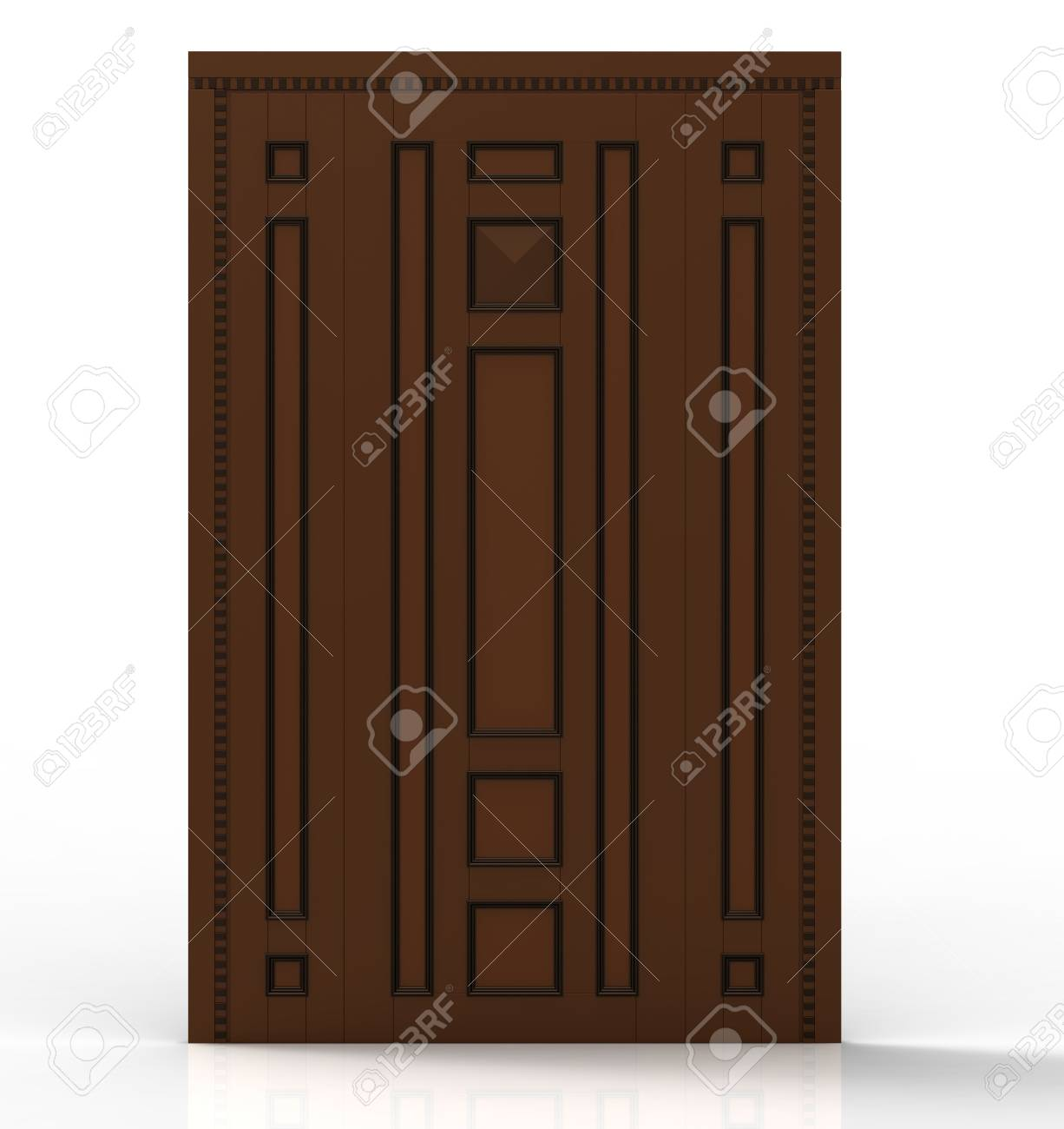 Entrance doors on a white background Stock Photo - 9824233